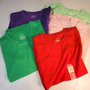NEW Assorted Sizes Lot of 5 Girl's T-shirts